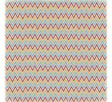 Rainbow Zigzag Photographic Print