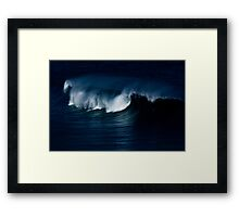 Wave Noir Framed Print