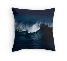 Wave Noir Throw Pillow
