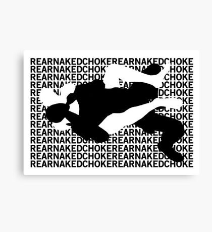 Jiu Jitsu MMA Rear Naked Choke Canvas Print