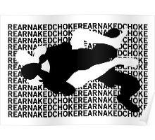 Jiu Jitsu MMA Rear Naked Choke Poster