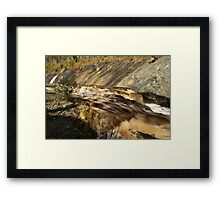 Once Was A Waterfall... Framed Print