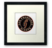 San Francisco Giants logo 1 Framed Print
