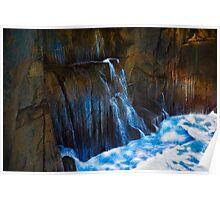 Ocean Wall Waterfall Poster