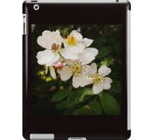 White Wildflowers with Pink Bud iPad Case/Skin