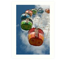 Ferris Carriages Art Print