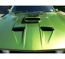Looking down the barrel of a 1977 Ford XC Coupe Photographic Print