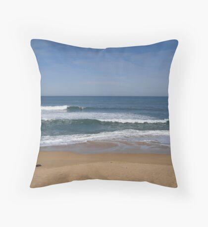 Surfing at Kilkunda, Victoria, Australia Throw Pillow