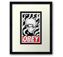 Naruto OBEY Framed Print