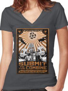 New World Order Women's Fitted V-Neck T-Shirt