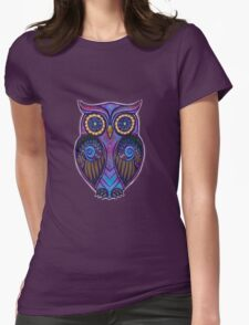 Ornate Owl 9 Womens Fitted T-Shirt