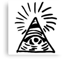 Chloe's Decal - The Eye of Providence. Canvas Print