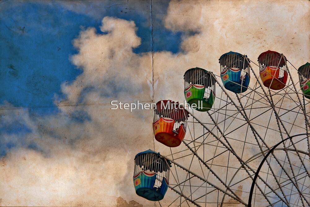 Postcard of Adelaide Ferris Wheel by Stephen Mitchell
