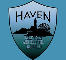Haven Keep Calm Blue Badge Logo by HavenDesign