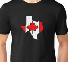 Texas outline Canada flag Unisex T-Shirt