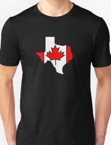 Texas outline Canada flag T-Shirt