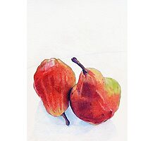 Two Red Pears Photographic Print