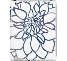 Blue Water Color Dahlia iPad Case/Skin