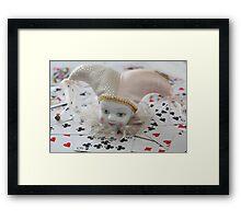Poker face ...... Framed Print