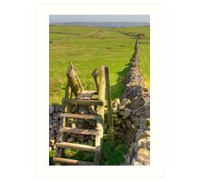 The peak district near Castleton Art Print