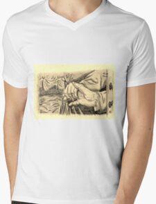 Hands in sepia Mens V-Neck T-Shirt