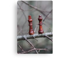 We are not safe out on this limb ... SOLD one YAY !! Canvas Print