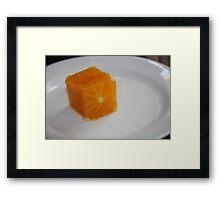 Square Orange  Framed Print