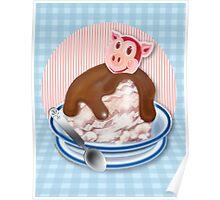 Year Of The Pig Ice Cream Sundae Poster