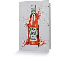 Heinz Tomato Ketchup Bottle Greeting Card