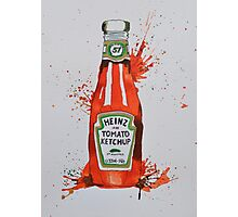 Heinz Tomato Ketchup Bottle Photographic Print