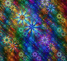 Rainbow Flower Cloth by wolfepaw