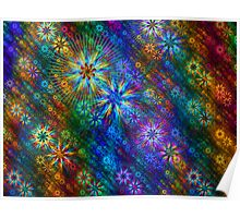 Rainbow Flower Cloth Poster