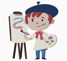 Cute Little Artist Design Kids Clothes