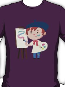 Cute Little Artist Design T-Shirt