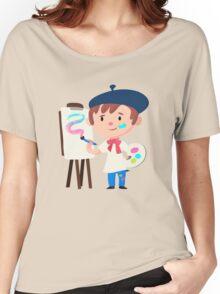 Cute Little Artist Design Women's Relaxed Fit T-Shirt
