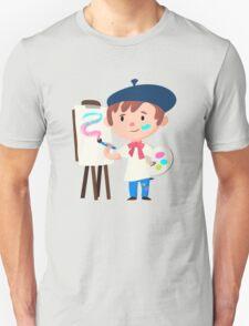 Cute Little Artist Design Unisex T-Shirt