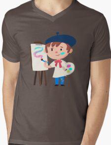 Cute Little Artist Design Mens V-Neck T-Shirt