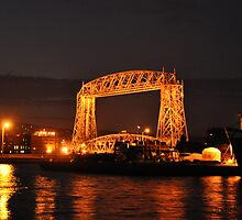 Canal Park Lift Bridge at Night by Jodie Keefe