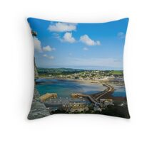 Marazion and Mounts Bay Throw Pillow