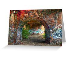 Urban decay-under the bridge Greeting Card