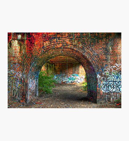 Urban decay-under the bridge Photographic Print