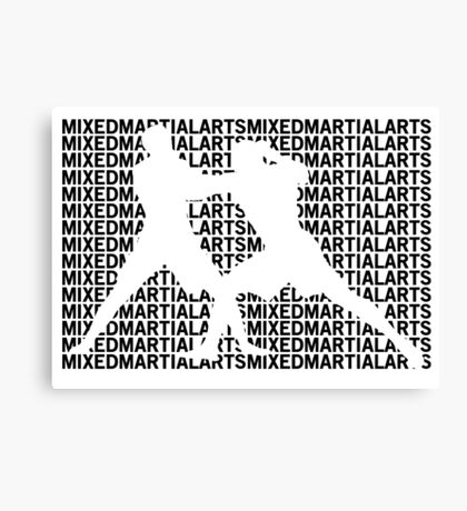 Mixed Martial Arts Cage Fighting Canvas Print