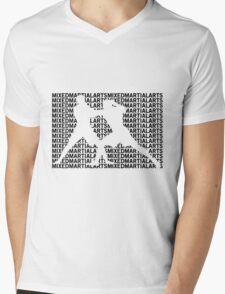 Mixed Martial Arts Cage Fighting Mens V-Neck T-Shirt