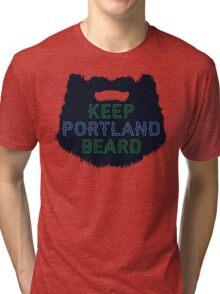 Keep Portland Beard Tri-blend T-Shirt