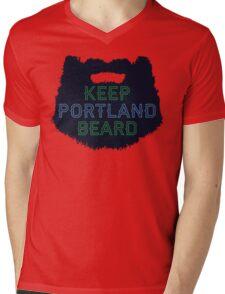Keep Portland Beard Mens V-Neck T-Shirt