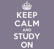 KEEP CALM AND STUDY ON Kids Clothes