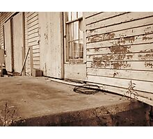 Abandoned Train Station Platform Photographic Print