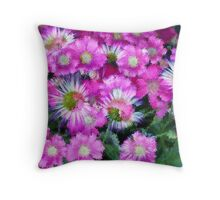 Flower Carpet - Painted Impression Throw Pillow
