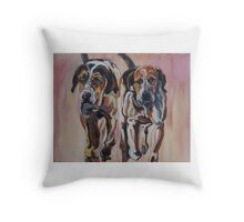 Hunting Hounds Throw Pillow