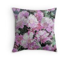 Soft as Silk - Delicate Flowers Throw Pillow